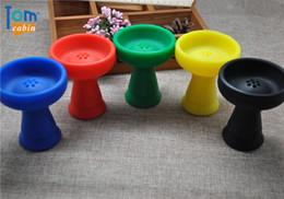 Shisha bouche en Ligne-Gros-1pc Holder Silicone Shisha Bowl Hookah Hookah Silicone Bowl Charcoal Hookah Bowl Shisha Foil Hose Mouth Conseils
