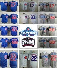 Wholesale 2016 World Series champions Patch Chicago Cubs Kris Bryant Rizzo Addison Russell Jake Arrieta MLB Baseball Running Jerseys