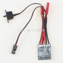 Inversor de control de velocidad en venta-Controlador de velocidad del motor de cepillado de salida de RC 10A 1 / 16-24 para Coche Barco Tanque Con freno de control del inversor