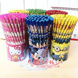 Wholesale pcsX Despicable Me Wood HB Pencils Children Boys Girls Cartoon Minions Kids Students School Stationery Baby Gift