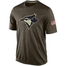 Wholesale MLB Toronto Blue Jays T Shirts cheap baseball jerseys Banner Wave Salute To Service Platinum Collection Tshirts