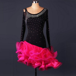 2018 Custom Madel Latin Dance Dress Sequins Women Lady Clothing For Dance Stage Costumes Ballroom Dancing Dress For Women Dancewear Dress