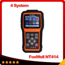 Wholesale Automotive scanner Car Diagnostic Tool Foxwell NT414 For Air Bag SRS Reset Tool Engine Oil Light Reset EPB Service Tool DHL free