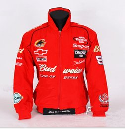 Wholesale Fall F1 Red Budweiser jacket MOTO GP motorcycle motorbike biker auto driver winter cotton jackets coat