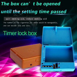 Wholesale Locking Cigarette box with timer stop smoking aid quit smoking aid include V DC charger as accessory