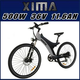 Wholesale PRE SALE Addmotor XIMA Wheel Black V W AH quot Electric Bicycle Newest Frame s Design Built in Battery City Bike
