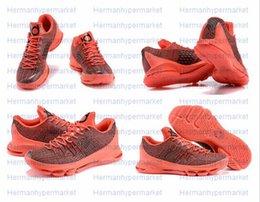Kd chaussures de vente mens en Ligne-2015 Kd 8 Mens Basketball Chaussures chaussures KD8 Avec Tick Kevin Durant Chaussures de basket Athletic Sport Sneakers en ligne Hot Sale taille US 7-12