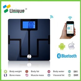 Wholesale High quality household health type touch screen smart body fat muscle water bone analyzing bluetooth bathroom precision digital scale
