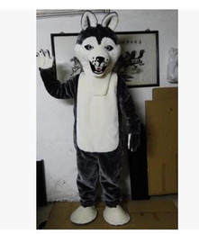 Fancy Gray Dog Husky Dog With The Appearance Of Wolf Mascot Costume Mascotte Adult Cartoon Character Party Free Shipping