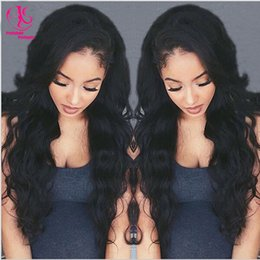 Hot Sale High Quality natural look premium black wig synthetic lace front wig body wave wig synthetic wigs for black women