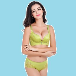 Wholesale MOXIAN The new women bra sets gather lace bra sets incognito income adjustable underwear manufacturers Four breasted B cup08