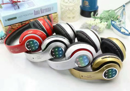 Wholesale The STN l leds card radio bluetooth headset wearing type stereo heavy bass wore a bluetooth headset