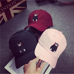 Wholesale Embroidery letters Benn brimmed hats curved Baseball Cap hat Korean version of hip hop cartoon lovers summer influx of men and women