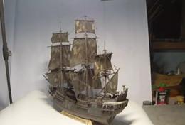 Wooden ship model kits black pear train hobby scale wooden ship model boats 3d laser cut DIY