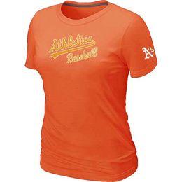 Wholesale Cheap Oakland Athletics Women Baseball T Shirt Short Sleeve Practice T shirt Cotton Athletics Tees Shirts Colors