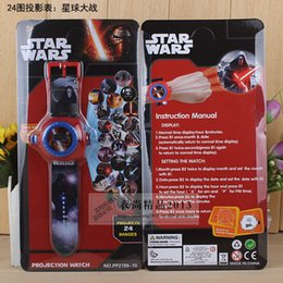 Wholesale Star Wars Projection Watches Party Supplies Different images Children s birthday Christmas festival best gift