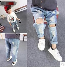 Wholesale 2016 Children Boy Jeans Pant Boy Denim Pants Hallow Out Design Jeans Pant New Fashion Jeans Pant PL6721
