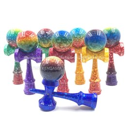 Wholesale new full marble colors kendama adult toys puzzle customize professional Boutique beech wood solid bag free remark you want