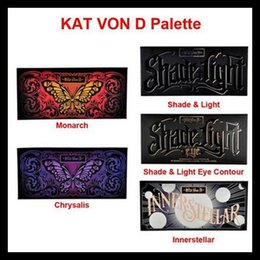 Wholesale DHL free Kat Eyeshadow Palette Chrysalis Innerstellar Shade Light highlighter Monarch Shade light eyecontour