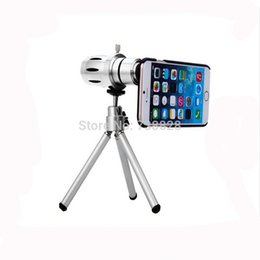 Wholesale-12x Optical Telescope Mobile Telephoto Lens with Tripod for iPhone 6