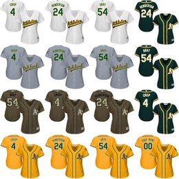 Wholesale women Coco Crisp Ricky Henderson Sonny Gray Oakland Athletics Baseball Jersey stitched size S XL
