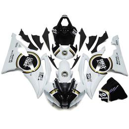 Wholesale Lucky Strike White Fairings For Yamaha YZF R6 YZF R6 ABS Motorcycle Fairing Kit Bodywork