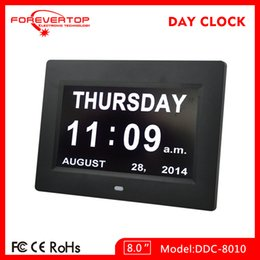Wholesale new hot sell products inch non abbreviated alzheimer digital calendar day clock clock with calendar for desktop free download