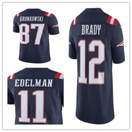 Wholesale Men s New England jersey Patriots Rob Gronkowski Tom Brady Julian Edelman Navy Color Rush Limited Jerseys
