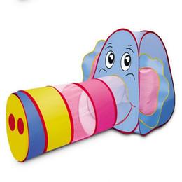 Venta al por mayor-Libre 2015 niños tienda de la casa de juego carpa niño elefante de juguete grande de la tienda niños del bebé que se arrastran tienda del juego, regalo de la Navidad desde cabrito casa tienda de campaña fabricantes
