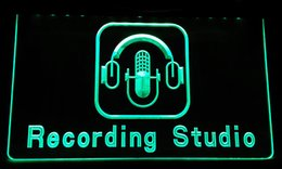 LS189-g Recording Studio Microphone Bar Neon Light Sign à partir de fabricateur