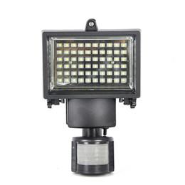 60 LED Solar Powered Outdoor Garden Motion Sensor Security Flood Light Spot Lamp