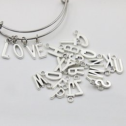 New Vintage Alloy Alphabet Charms Metal Initial Letter Charms 260pcs lot, Each Alphabet Charms 10pcs, AAC1198