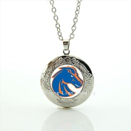 Wholesale Cool horse Picture Pendant locket Necklace Denver Broncos team Newest mix sport team jewelry gift for children and kids NF003