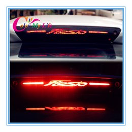 Wholesale Hot selling D carbon fiber brake light sticker High Rear Brake Lights sticker case For Ford Fiesta hatchback sedan AP
