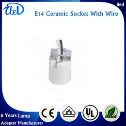 Wholesale 2016 Hot sale fast shipping Porcelain E14 lamp socket E14 base E14 lamp holder with electrical wire cable