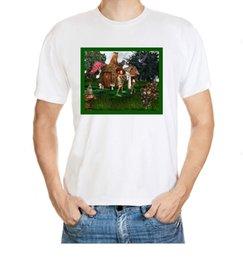Wholesale Cute Elf Dwarf Frog Dance Scene Playing Fantasy Pattern Men S Cotton T Shirt