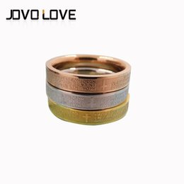 Wholesale Stainless Steel Ring High quality Jewellery Finger Ring bible scripture titanium steel ornaments Couple Ring sales promotion