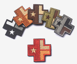 GPS-035 2*2 inch high quality 3D Embroidered Patch Texas Flag with magic tape Cross Medical armband badge GAME patch