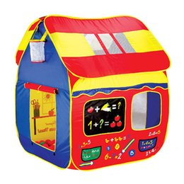 Wholesale Fun Basketball Hoop Play Hut Children s tent large game houses folding portable toy ocean ball pool house toys baby kids gift