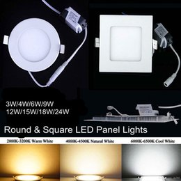Wholesale Ultrathin Design W W W W W Aluminium Panel Light SMD Recessed LED Downlights AC110V AC220V LED Ceiling Lights