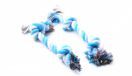 Pets dogs pet supplies Pet Dog Puppy Cotton Chew Knot Toy Durable Braided Bone Rope 19CM Funny Tool XMHM072 ZD032A