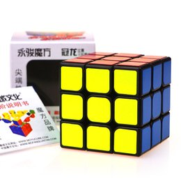 Wholesale Yongjun YJ MoYu AoLong mm Magic Puzzle Cube Top Speed Crazy Windmill Weilong Puzzle Pyraminx Cubes Educational Toys