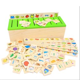 wooden toy educational wisdom Geometric Box learning number digital fruit English Chinese matching game baby toddle baby kids toy present