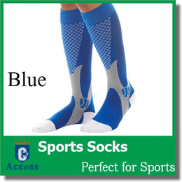 Wholesale Unisex Men Women Leg Support Stretch Magic Compression Socks Sports Running Football color pairs