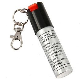 Wholesale 20pcs Key chain PEPPER SPRAY SELF DEFENSE ML Self defense equipment Women s anti wolf equipment