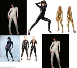 New Metallic Lycra zentai spandex Sexy catsuit No mask, hand, feet,