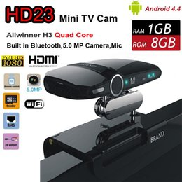 Wholesale HD23 EU3000 MP Cam Skype Quad Core Allwiner H3 Mini PC Video Phone Network Android TV Box HDMI Smart Stick with DSP Mic Speaker HD22
