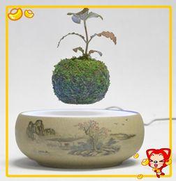 Wholesale DHL free Magnet bottom pop levitation bonsai tree for christmas gift magnetic levitation air bonsai potted