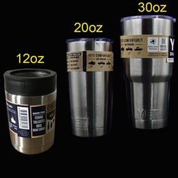 Wholesale YETI oz oz oz silver colorful Stainless Steel YETI Cups beer Mug Bottle Colster Rambler Tumbler Stainless Steel