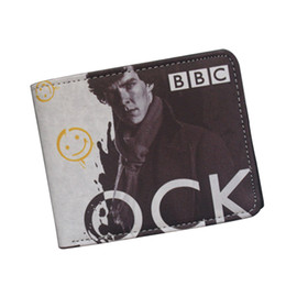 New 2016 Funny Novelty Sherlock Holmes Wallet Wholesale Small Zipper Pocket Men Wallet Coin Pocket Smile Purse Original Brand Student Wallet